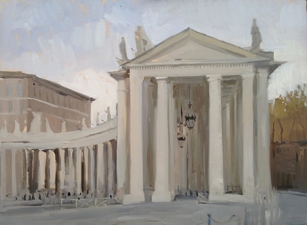 'The Vatican foyer' 30 cm x 40 cm Oil on panel