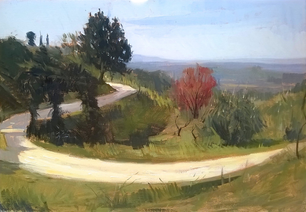 'Settignano' '40 cm x 50 cm Oil on linen