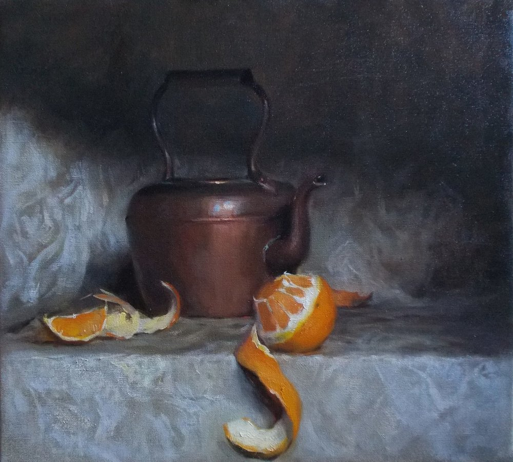 'The Orange peel' 45 cm x 55 cm Oil on linen