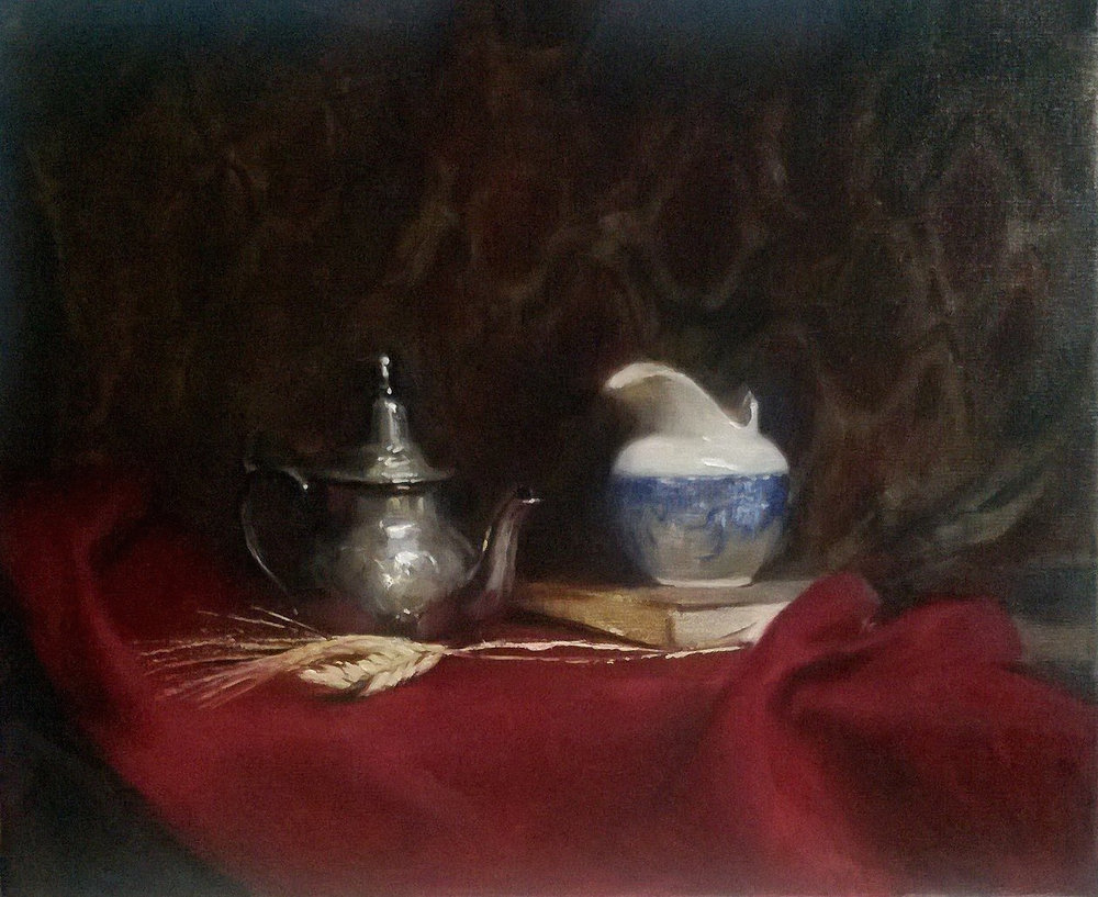 'Tea hour' 50 cm x 60 cm Oil on linen