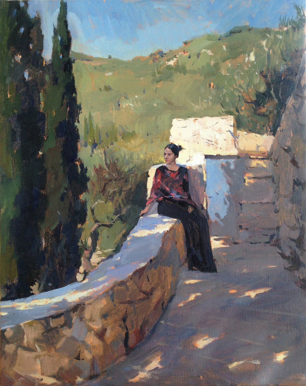 Anna in morning light 35 cm x 50 cm Oil on linen