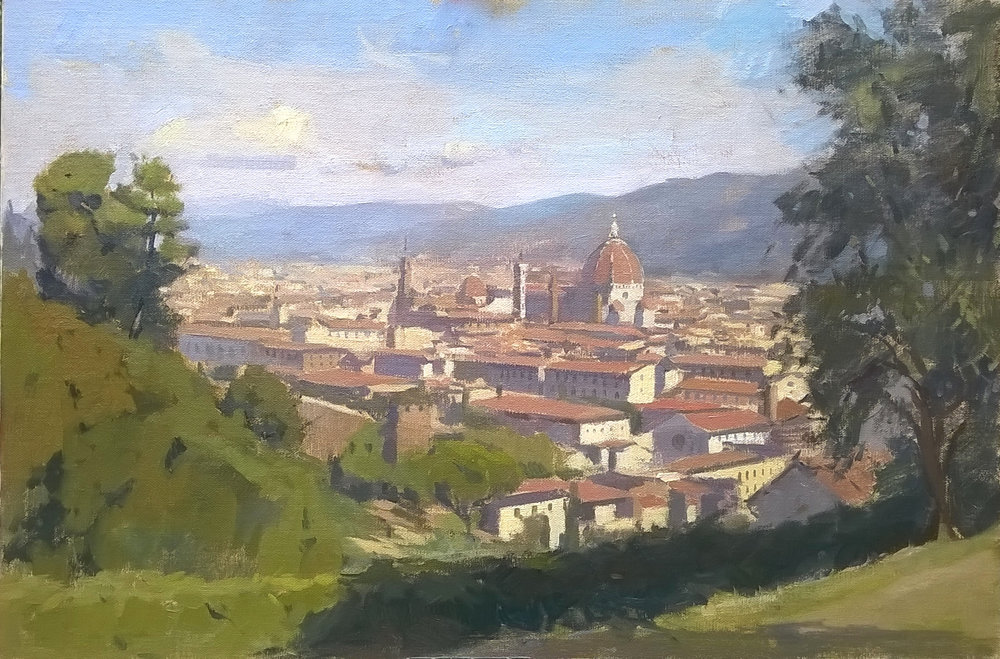 Firenze 40 cm x 60 cm Oil on linen