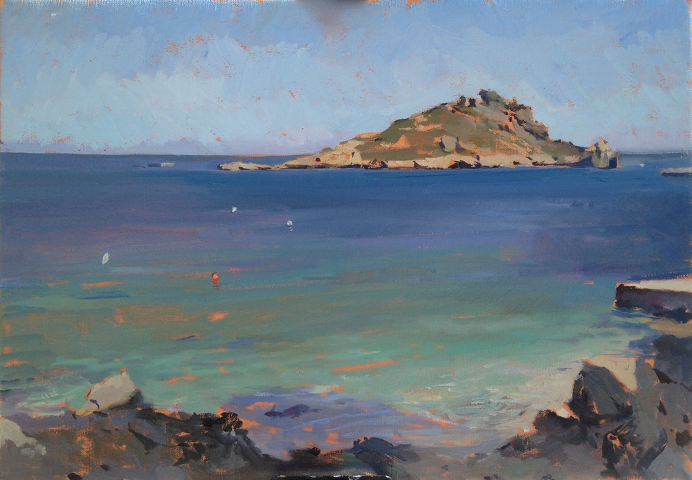 The Mediterranian, 30 cm x 40 cm Oil on linen