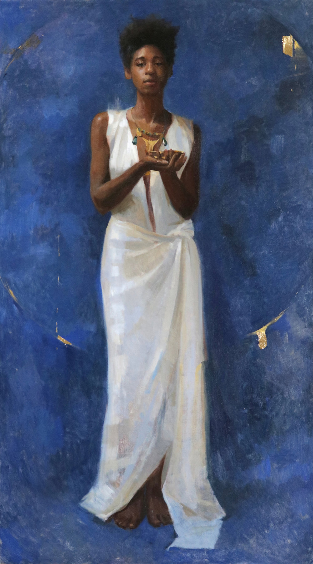 Ruby with a chalice 90 cm x 160 cm Oil on linen