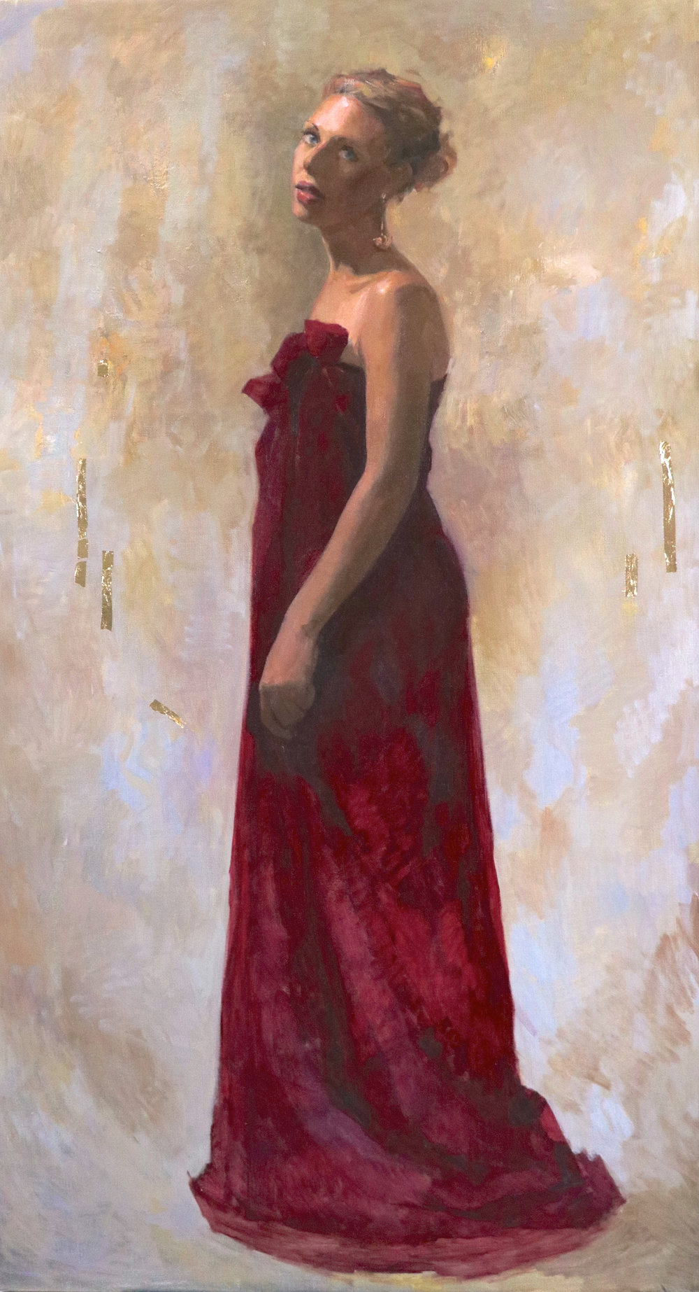 The gaze' 90 cm x 160 cm Oil on Linen
