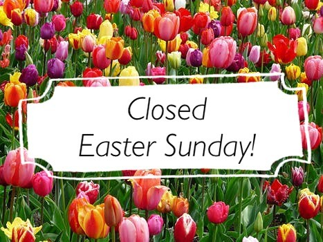 Closed today for family time!  #healdsburg #easter2018 #familytime