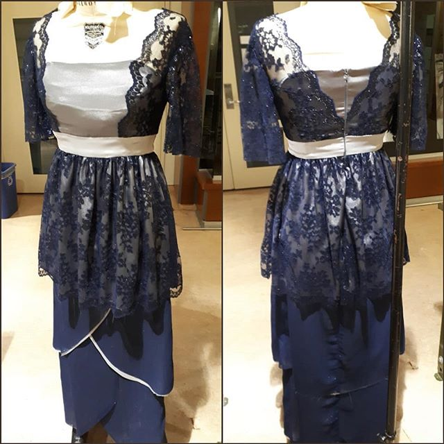 This #tbt is one of my final exams from fashion school. A late Edwardian inspired evening dress. This dress was patterned, cut and sewn in under 48 hours and on very little sleep. Even though it didn't turn out quite how i wanted it, this dress did land me with an A and a well earned nap. Wish I had better pictures of it but I can't bring myself to look at this dress ever again 🤣 maybe one day I'll remake it properly. | #edwardian #dressmaker #historicalcostume #inspired #eveningdress #lace #satin #chiffon #costumedesigner #cosplayersofinstagram #fashionschool #sewing #art #throwbackthursday