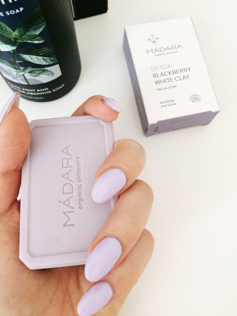 Madara Detox Blackberry White Clay Facial Soap