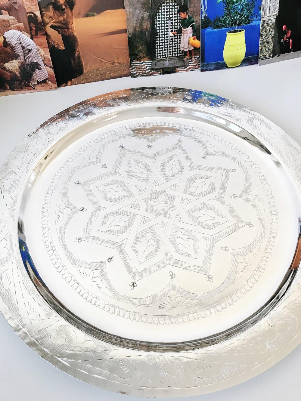Marokkolainen hopeatarjotin
