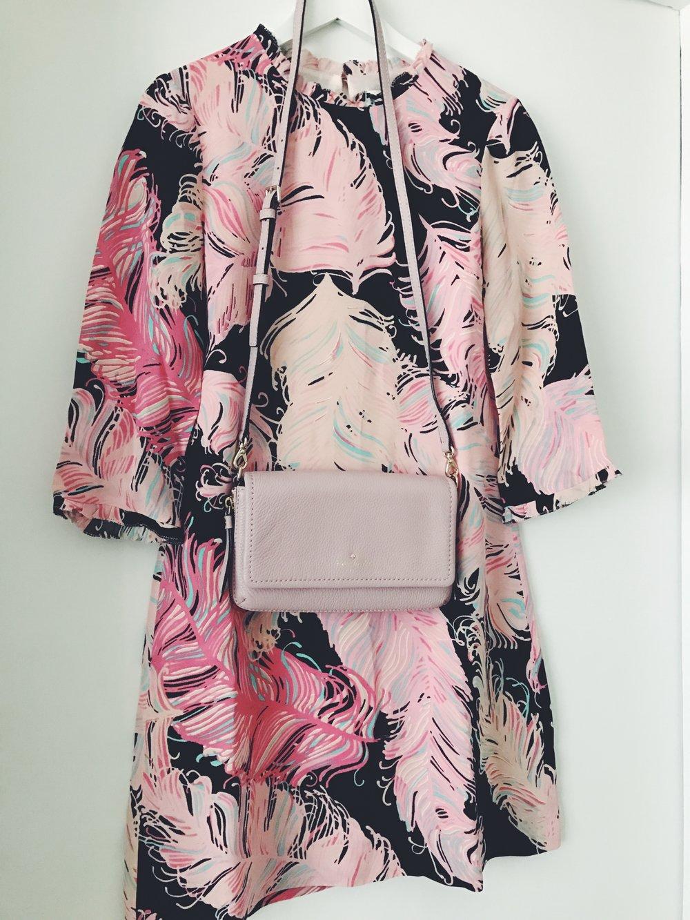 Kate Spade mekko ja laukku