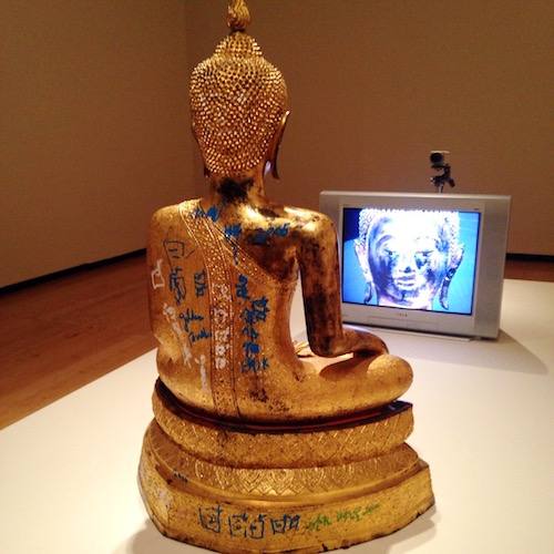 Nam June Paik, Golden Buddha, 2005. Photo Credit: Jacque Donaldson