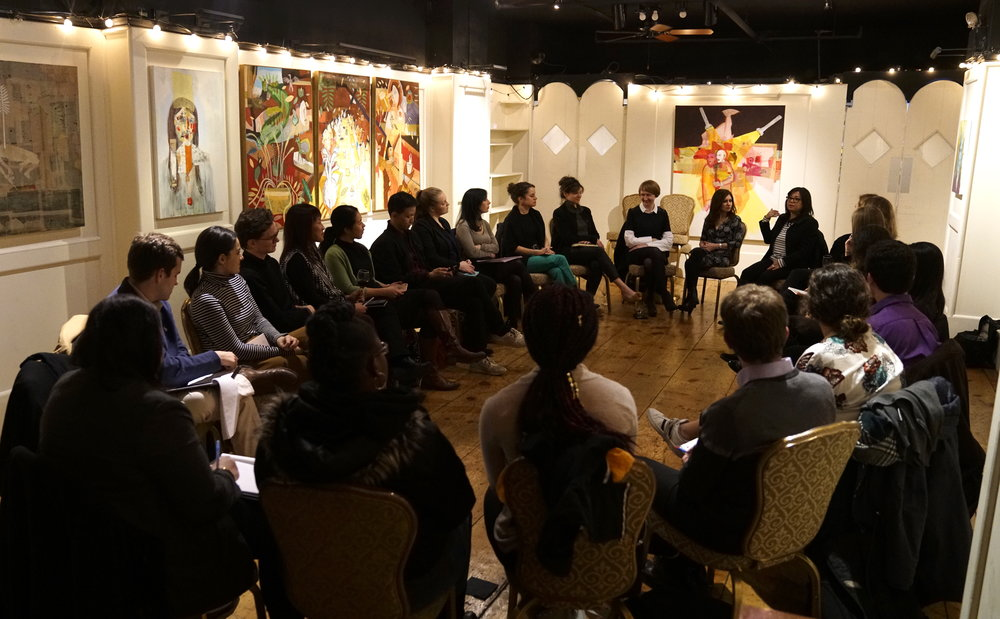 Conversation on prepping for an interview led by Nella Vera, Director of Marketing for BFV Management, and Erica Sattin, Director of Development at National Sawdust. Photo:  ©  Young Professionals in the Arts