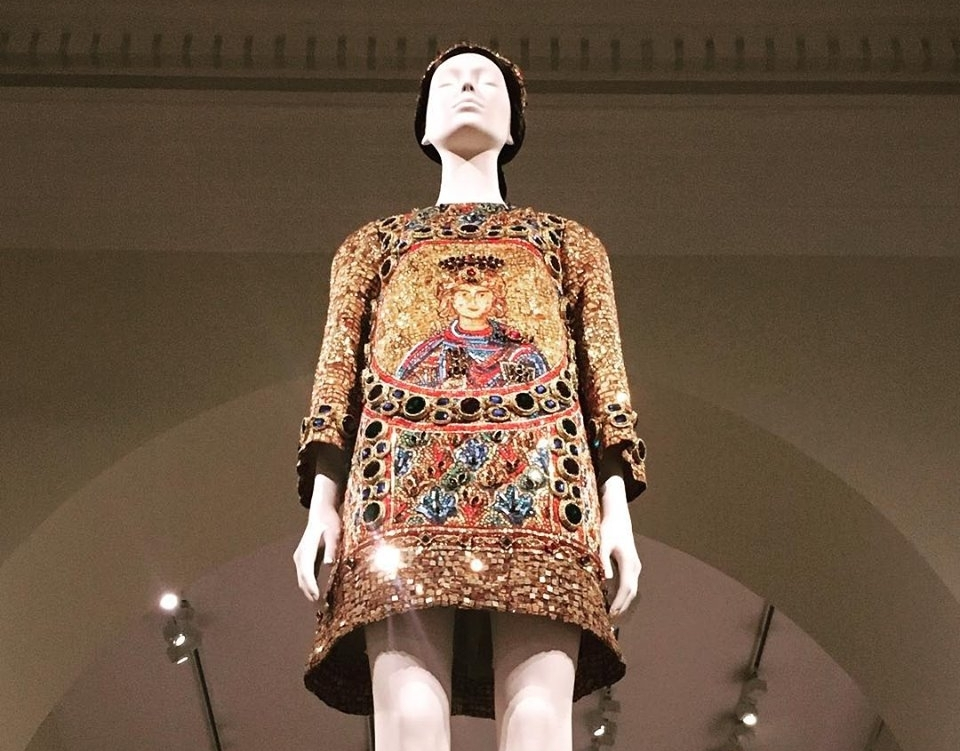 "Dolce & Gabbana Dress at The Metropolitan Museum of Art ""Heavenly Bodies"" Exhibition. Photo: Mara Vlatkovic"
