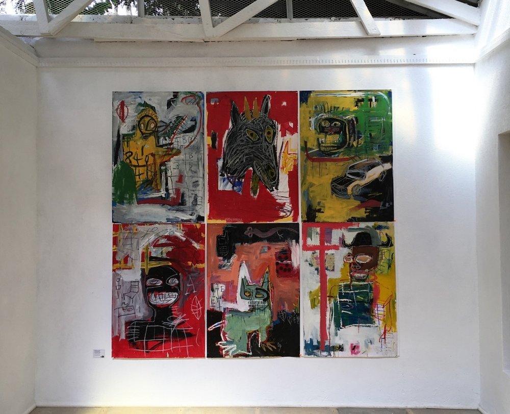 """Contemplations"" by Ehoodi Kichapi at the One Off Gallery in Nairobi, Kenya. Photo cred: Mara Vlatkovic"
