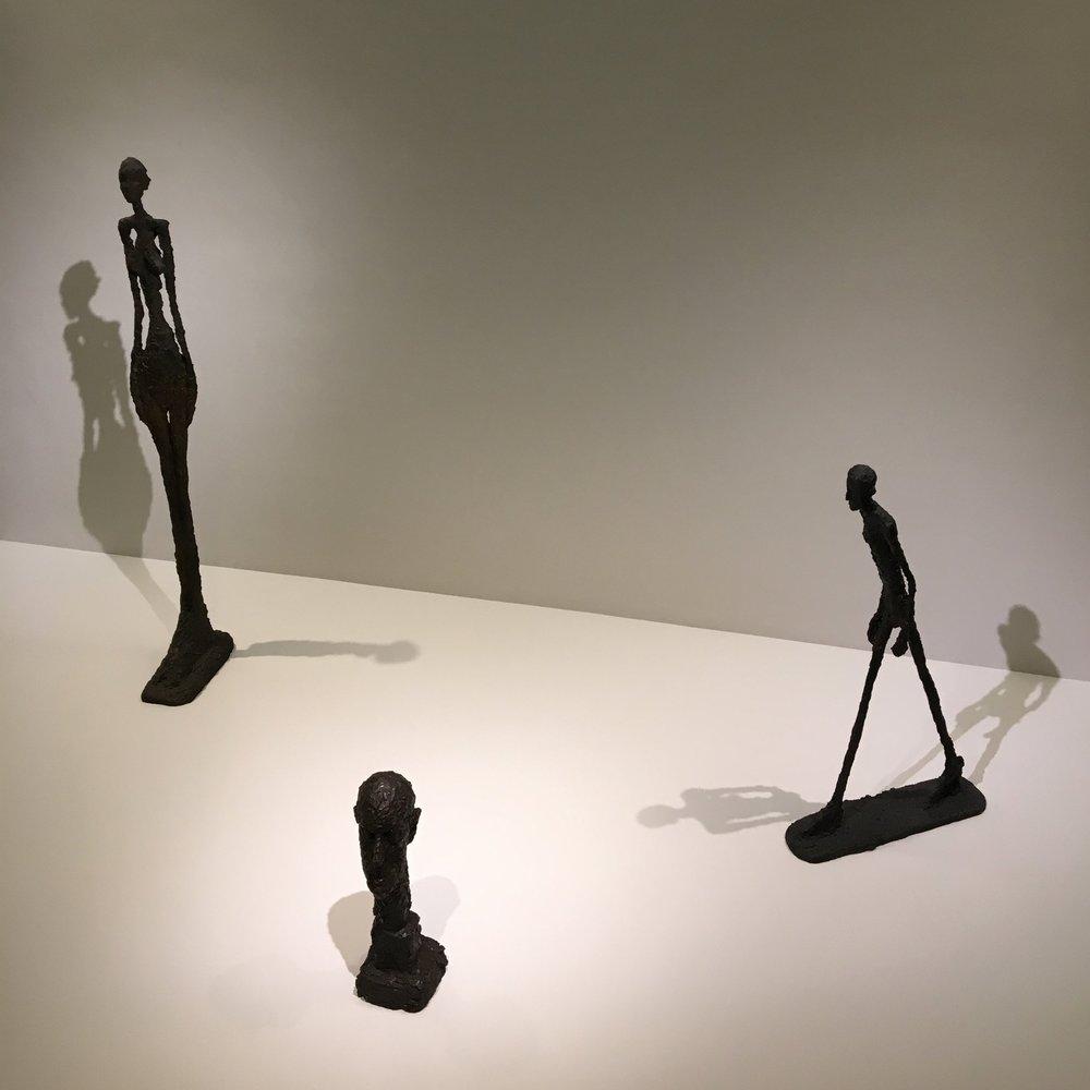Giacometti  at The Guggenheim Museum. Photo credit: Mara Vlatković