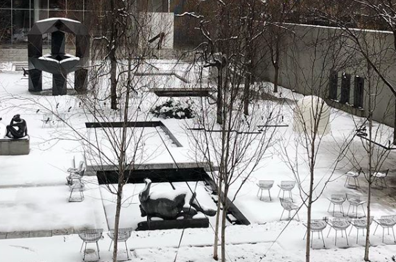 Snowy day at the Wiki edit-a-thon with  #artandfeminism  at the MoMA. Photo cred: YPA NYC