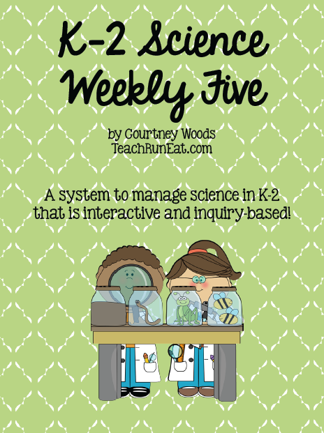 Science Weekly Five for K-2 teachers