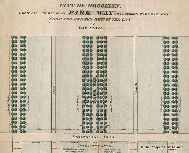 The original plan for Eastern Parkway