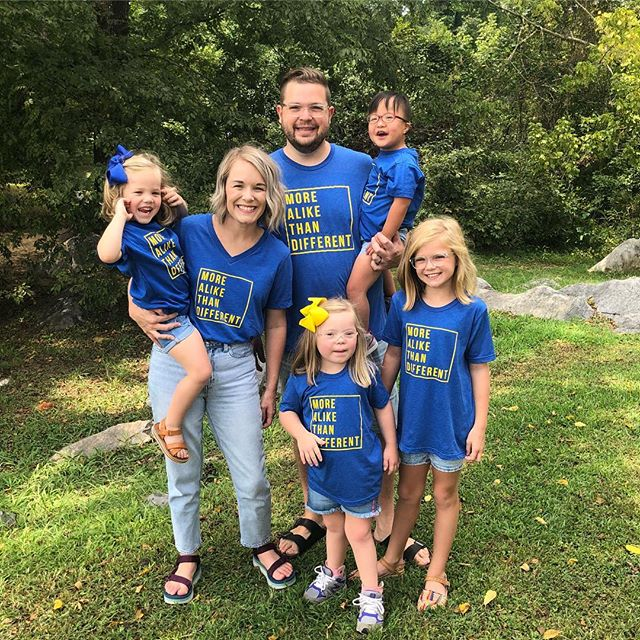Ok y'all, October is right around the corner! To celebrate Down syndrome awareness month, we have created a special More Alike Than Different tee in blue & yellow! We have also added grey MATD shirts in the shop! And to help you guys stock up on all your MATD gear, we are offering discount codes! . Buy 2 shirts & get 15% off with code: MATD15 . Buy 3 shirts or more & get 25% off with code: MATD25 . These items are preorder, so it's a great time purchase and ensure your size and favorite color are available. Preorder ends Monday, September 10th. Shirts will ship in 2-3 weeks.