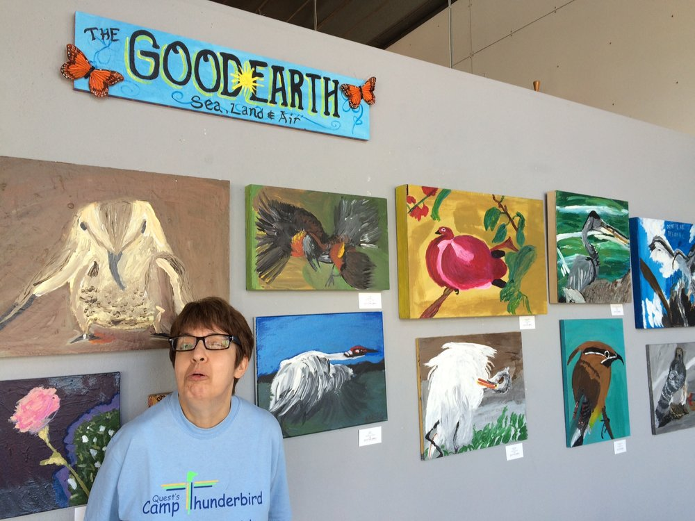 The Good Earth Exhibit of Karens paintings.JPG