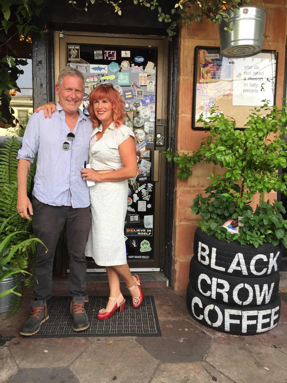 Black Crow Coffee Co. owners Greg Bauman and Deana Hawk.