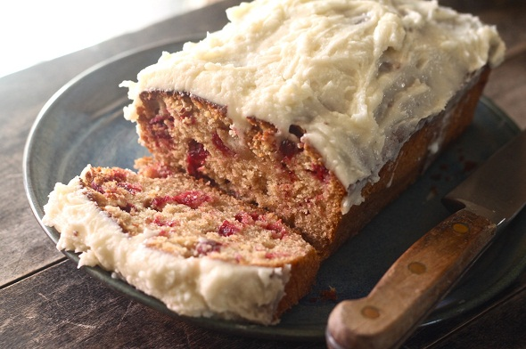cranberry honey cake