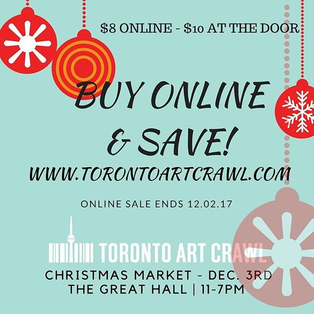 Save $2 buying tickets for @torontoartcrawl online today