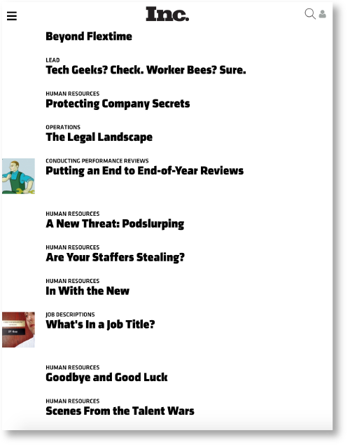 Business Articles by Scott Westcott Inc. Magazine