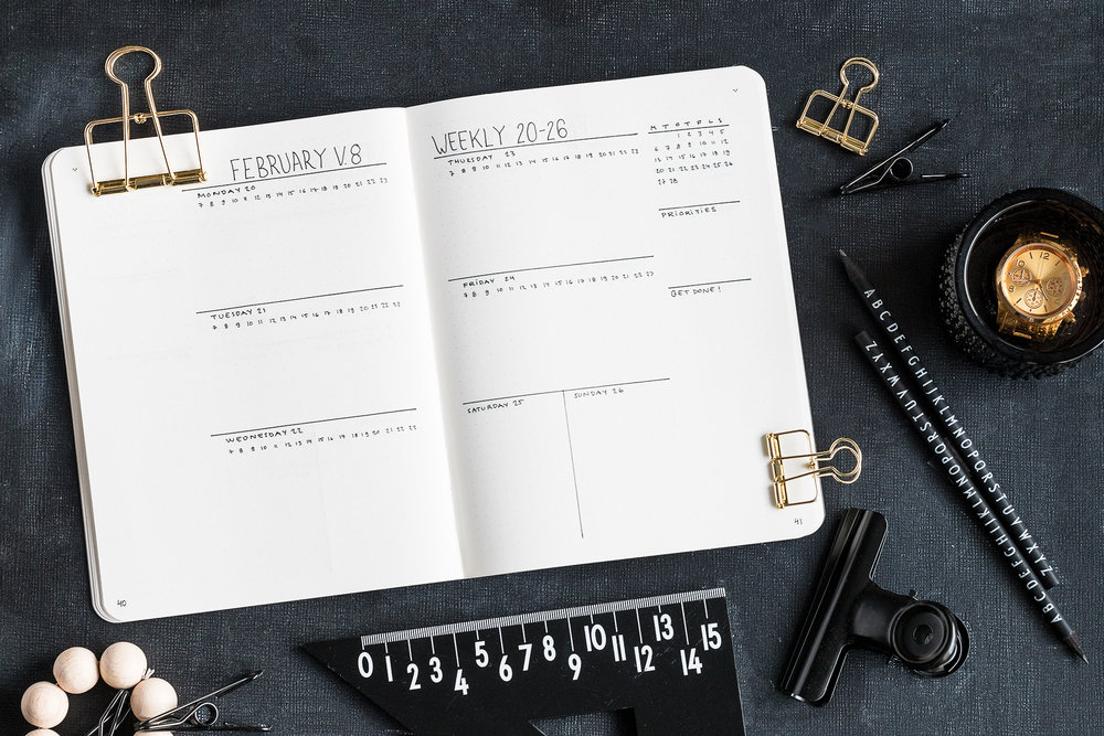 February weekly setup | Bullet Journal | Sandramarias.com