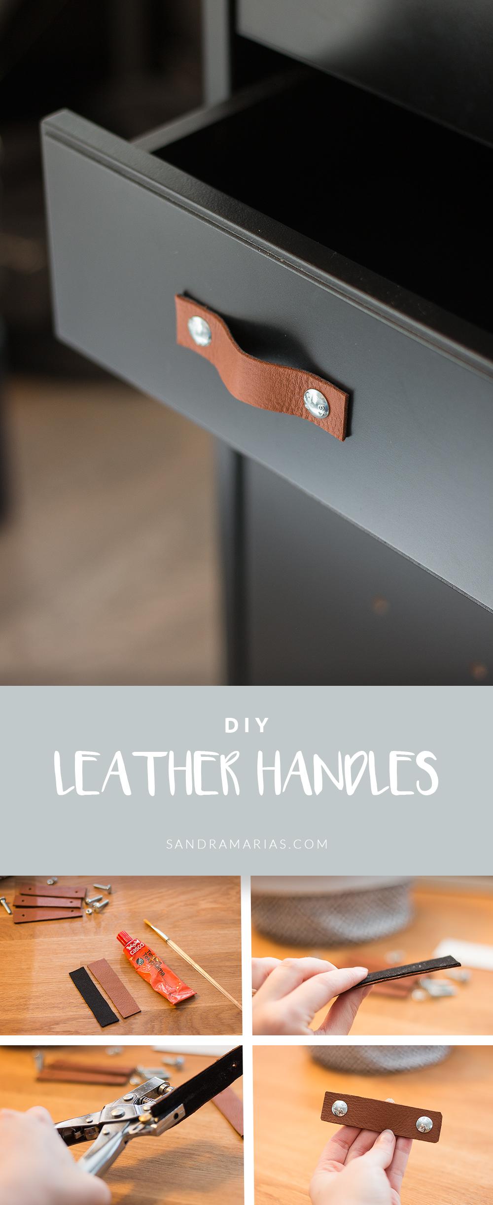 IKEA HACK: snyggare look med läderhandtag | Sandramarias.com