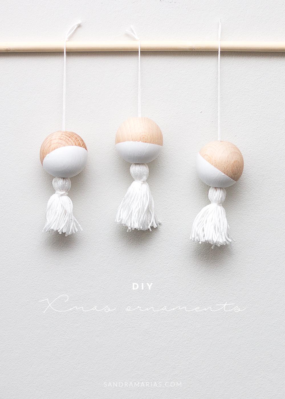 DIY | Jul | Egna julgranskulor i trä | Annorlunda julgransdekorationer | Sandramarias.com