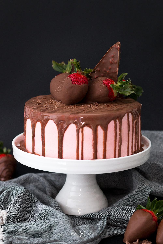 Alla hjärtans dag | Tårta | Jordgubbar och choklad | Sandramarias.com