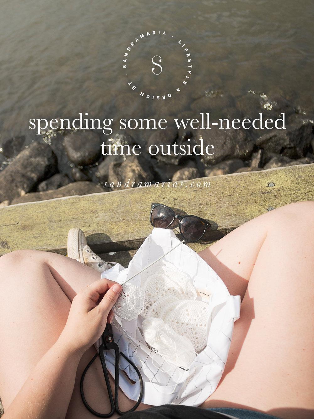 Spending time outside | Sandramarias.com