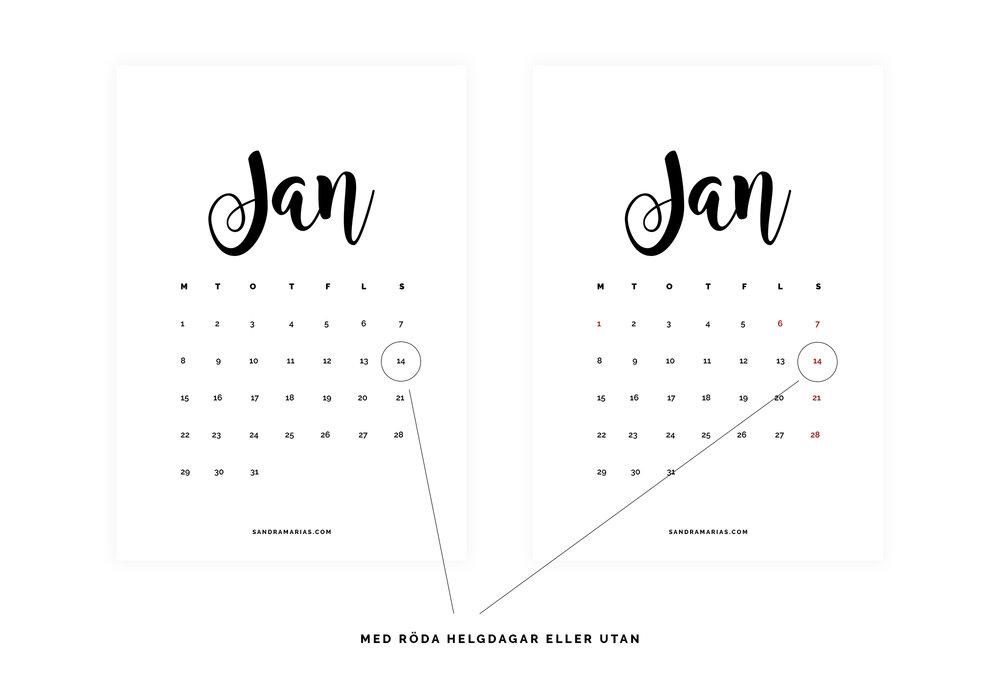 Gratis nedladdningsbar kalender 2018 | Finland | Free calendar | By Sandramaria | Sandramarias.com