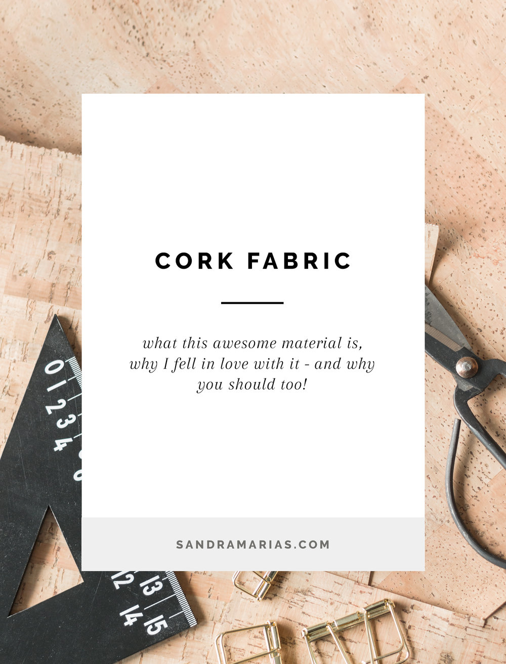 What is Cork Fabric? Why I Fell in Love With it - and Why You Should too! | By Sandramaria | Sandramarias.com