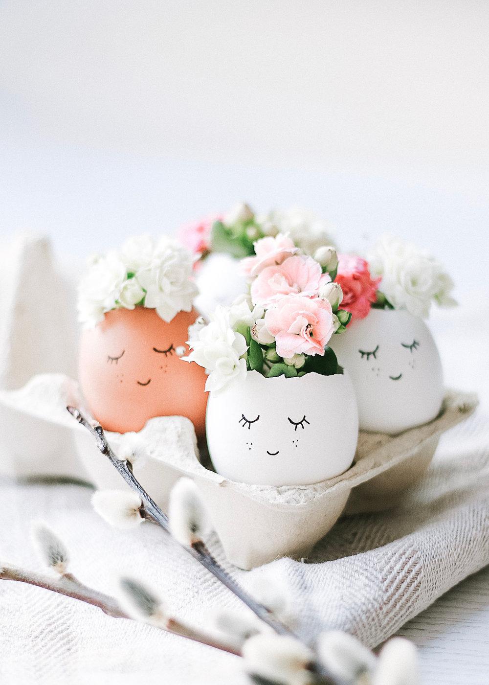 Sötaste påskäggen | Påskpynt med blommor | Scandi easter deco | modern easter eggs | påskpyssel | By Sandramaria | Sandramarias.com