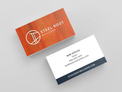 Steel root builders rotanz design business card design colourmoves