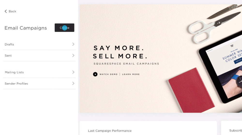 Squarespace Email Marketing