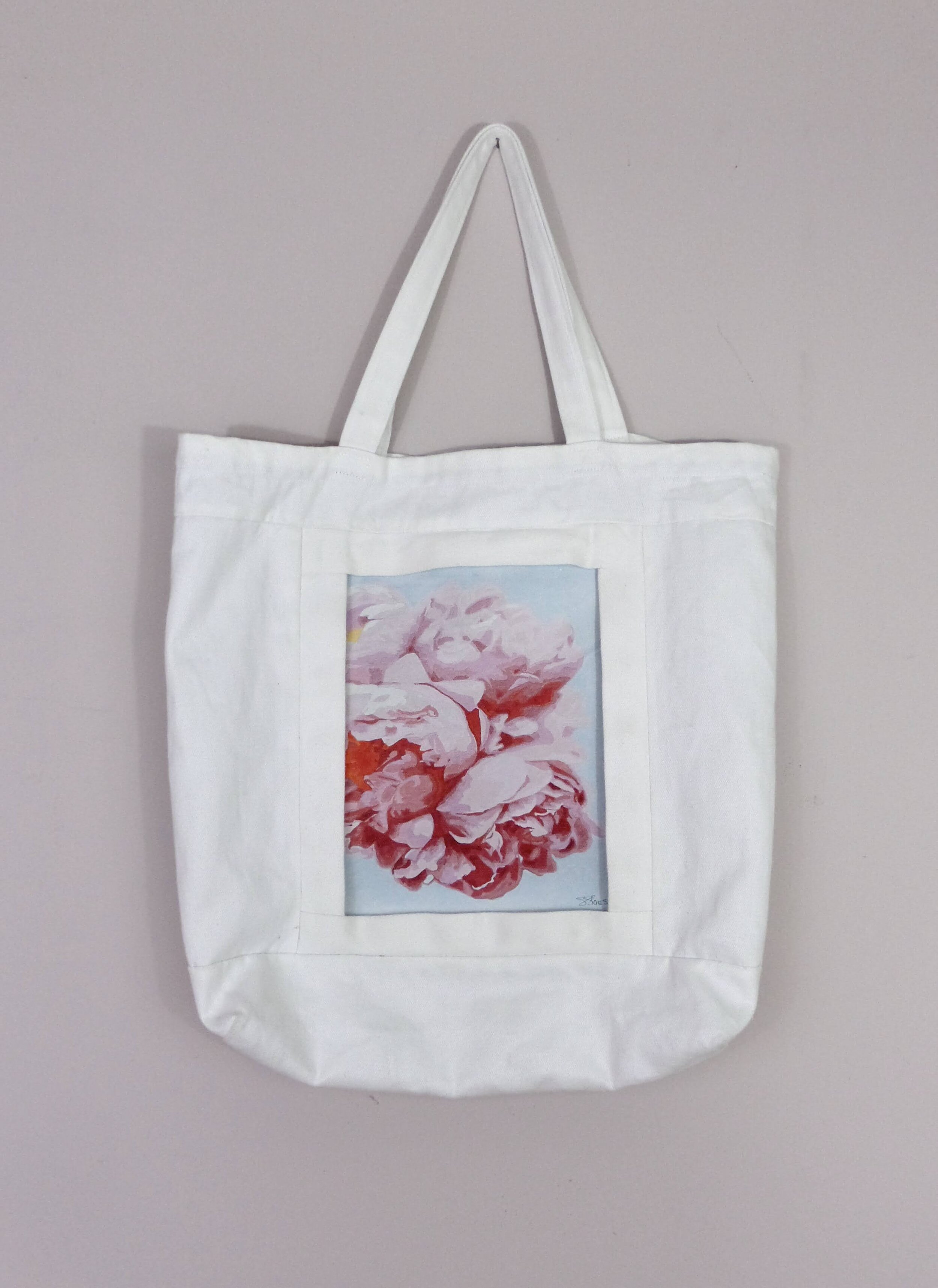 A Quarantine Rose Print Shareables Bag by Sharon Stone and Inclusivi-Tee
