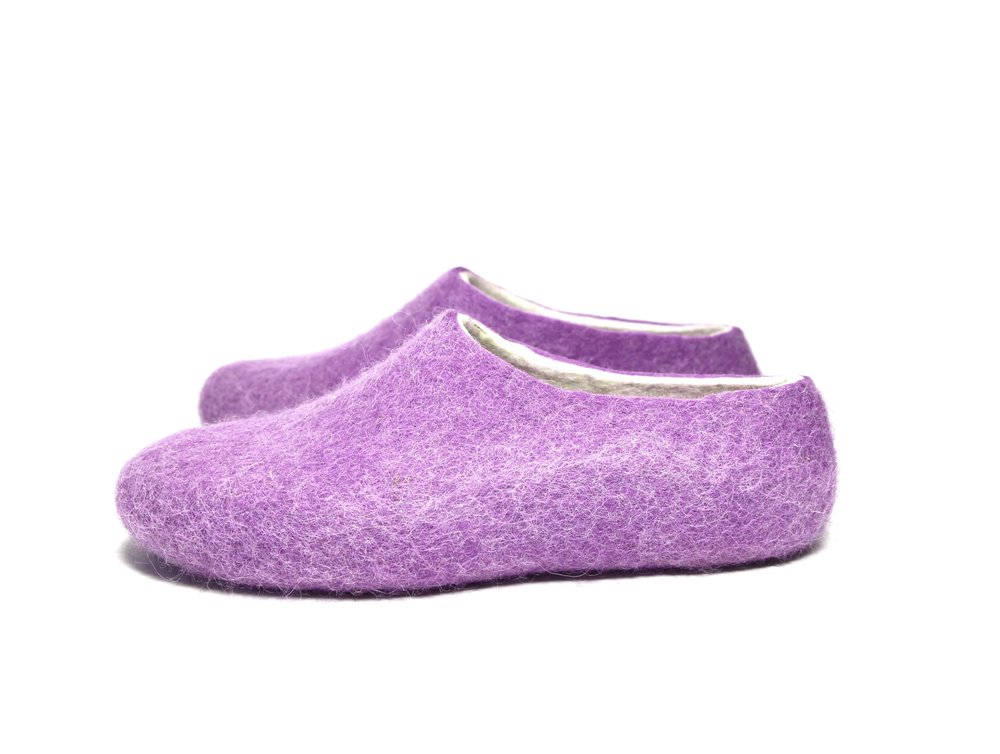 Women Felt Slipper Purple Lilac White 1.jpg