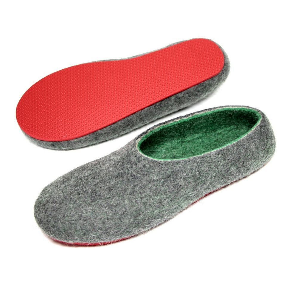 Men's Natural Wool Clogs Watermelon 4.jpg