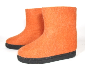 Flash Color Wool Boots for Outdoors Orange.jpg