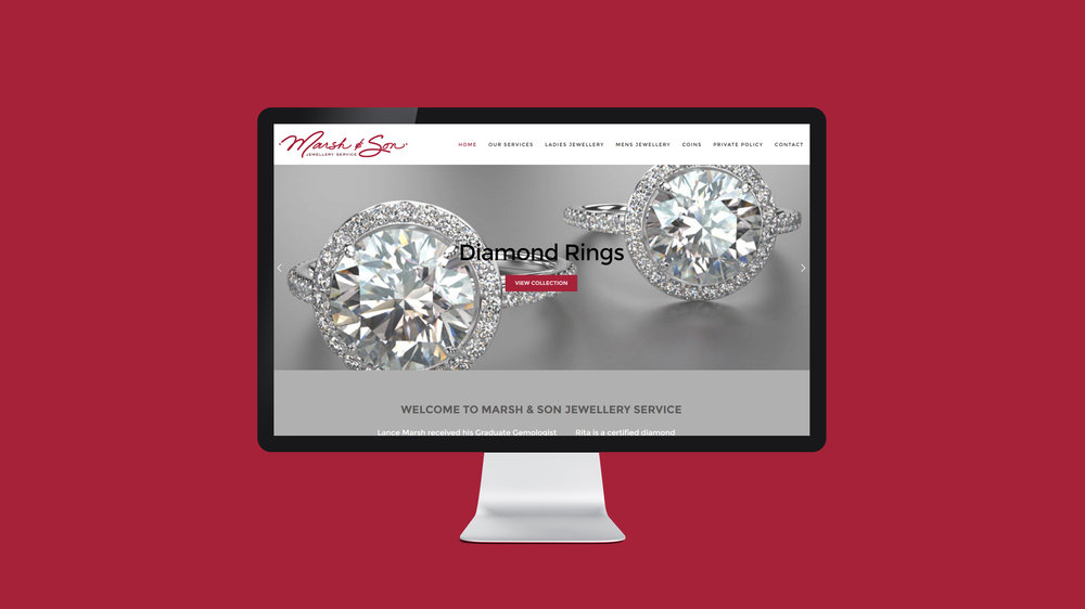 Marsh & Son Jewellery Service   marshandson.com  - Copyright © 2012-2017 460 Communications Inc. All rights reserved.  This design is intended strictly for portfolio use only and cannot be reproduced in any way with out written consent from 460 Communications Inc.