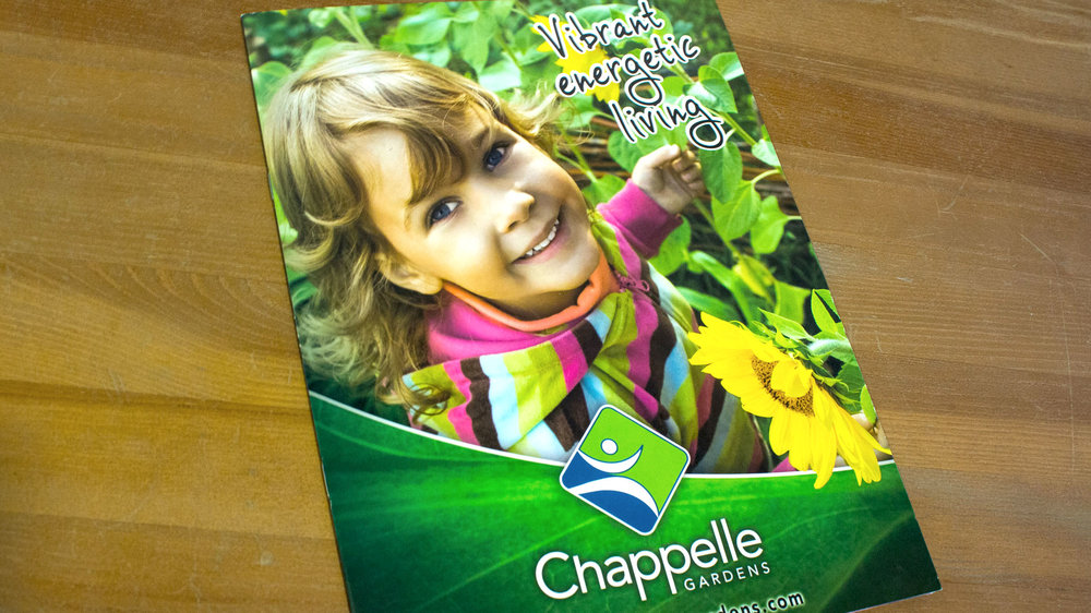 Chappelle Gardens Brochure  Copyright © 2005-2017 Consumer Strategies Group (CSG). All rights reserved.  This design is intended strictly for portfolio use only and cannot be reproduced in any way with out written consent from Consumer Strategies Group.