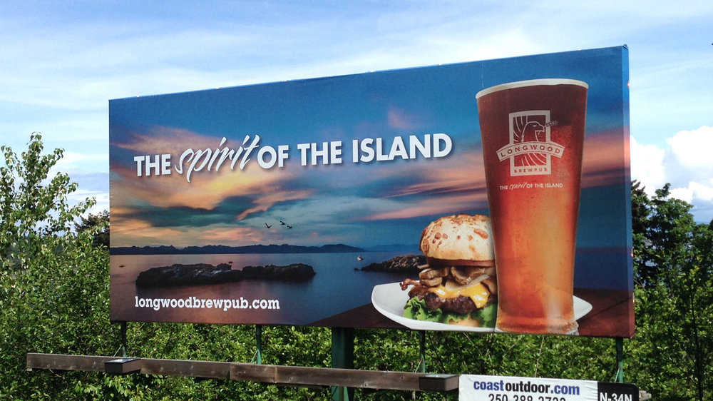 Longwood Brew Pub Billboard  Copyright © 2012-2017 460 Communications Inc. All rights reserved.  This design is intended strictly for portfolio use only and cannot be reproduced in any way with out written consent from 460 Communications Inc.