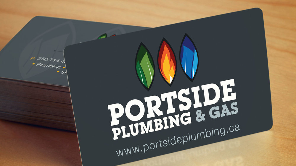 Portside Plumbing & Gas Business Cards  Copyright © 2012-2017 460 Communications Inc. All rights reserved.  This design is intended strictly for portfolio use only and cannot be reproduced in any way with out written consent from 460 Communications Inc.