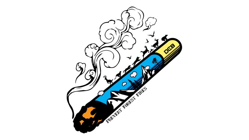 DCB Cigarette Forest Fire     Copyright © Afro Boy Productions. All rights reserved. ·  Illustrator