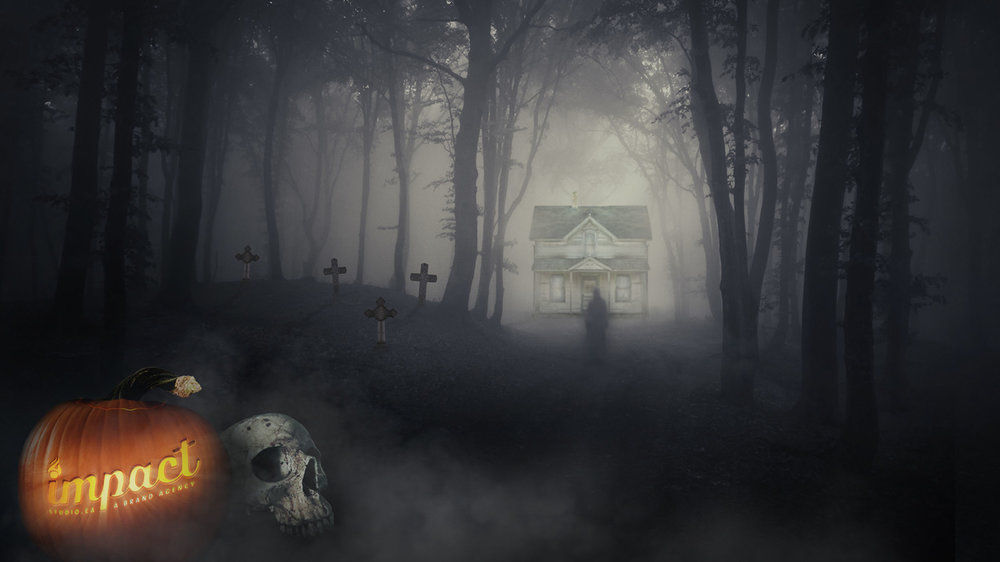 Halloween Wallpaper  Copyright © 2012-2017 460 Communications Inc. All rights reserved.  This design is intended strictly for portfolio use only and cannot be reproduced in any way with out written consent from 460 Communications Inc.  ·  Photoshop