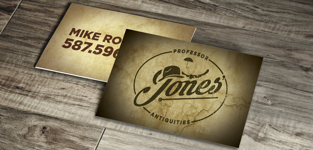 Professor Jones Antiquities Business Card     Copyright © Afro Boy Productions. All rights reserved.