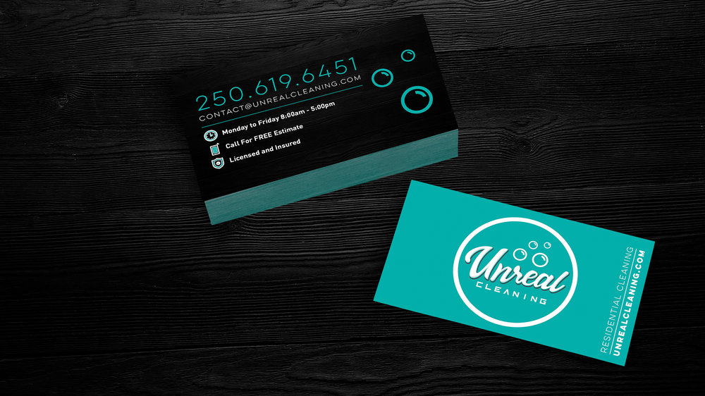 Unreal Cleaning Business Cards  Copyright © Afro Boy Productions. All rights reserved.